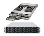 Supermicro SuperServer 6027TR-HTFRF (SYS-6027TR-HTFRF) (Intel Xeon E5-2600, RAM Up to 512GB ECC, HDD 3x Hot-swap 3.5